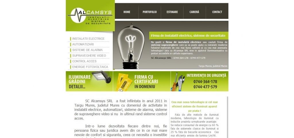 Firma de instalatii electrice   Alcamsys