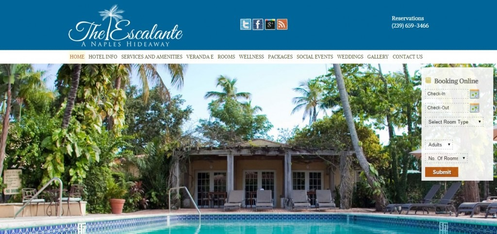 Hotel Escalante   Naples  Florida s Finest Boutique Hotel