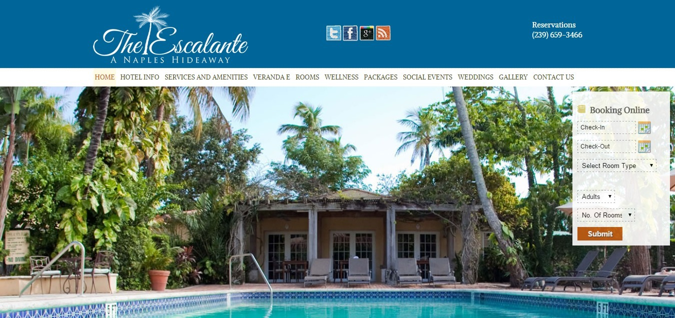 The escalante web design resolution studio for Hotel design naples