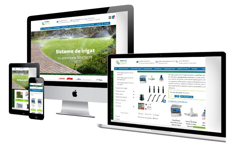 Dezvoltare Magazin Online De Irigatii - Accesoriidegradina.ro